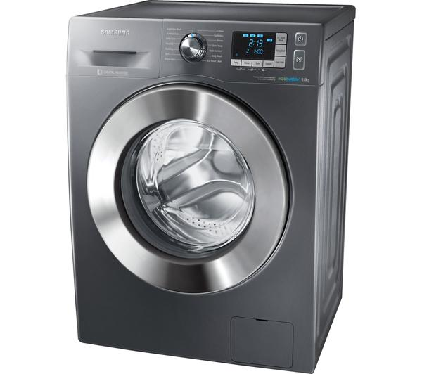 samsung ecobubble 9kg wf90f5e5u4x washing machine graphite. Black Bedroom Furniture Sets. Home Design Ideas