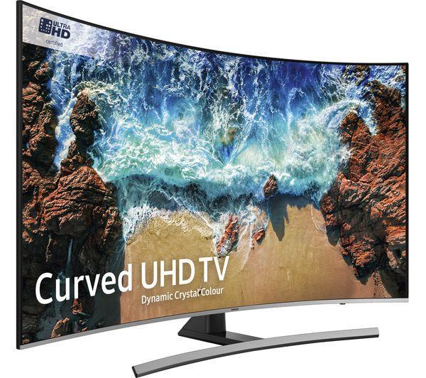 """55"""" Samsung UE55NU8500 4K Certified Ultra HD HDR 1000 Smart Curved LED TV"""