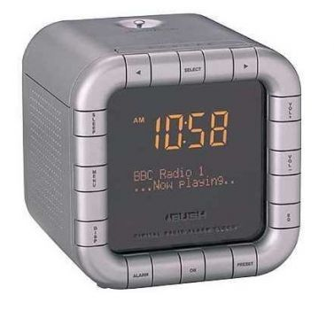 bush portable dab fm clock alarm radio. Black Bedroom Furniture Sets. Home Design Ideas