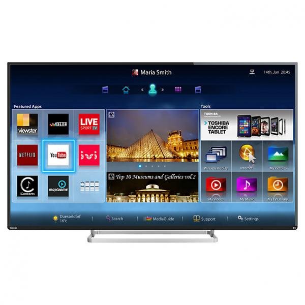 55 toshiba 55l7453db full hd 1080p freeview hd smart led 3d tv. Black Bedroom Furniture Sets. Home Design Ideas