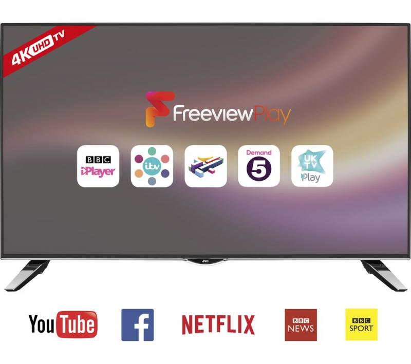 "40"" JVC LT-40C860 4K Ultra HD  Freeview HD Smart LED TV"
