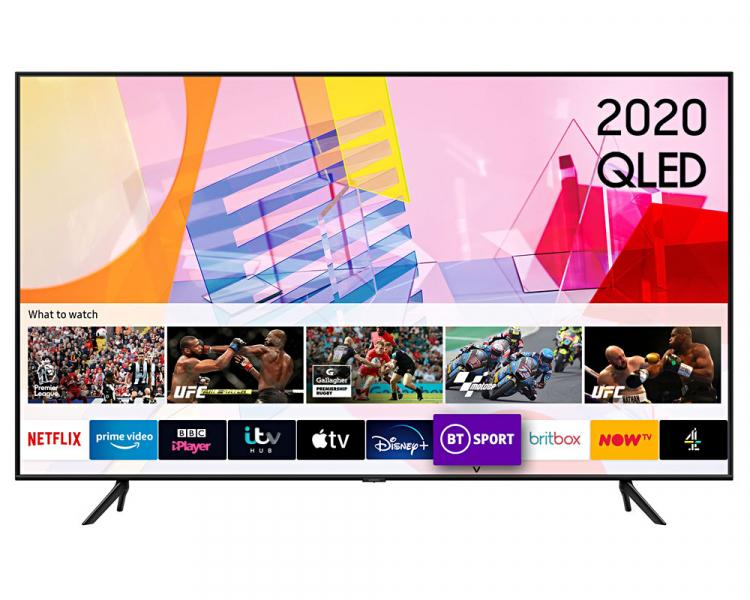 """55"""" Samsung QE55Q60TAU Crystal 4K Quantum HDR Smart QLED TV"""
